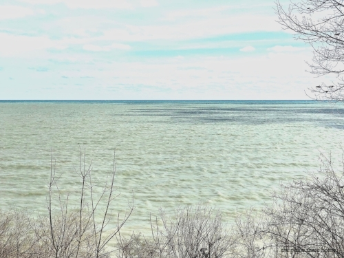lake michigan in spring
